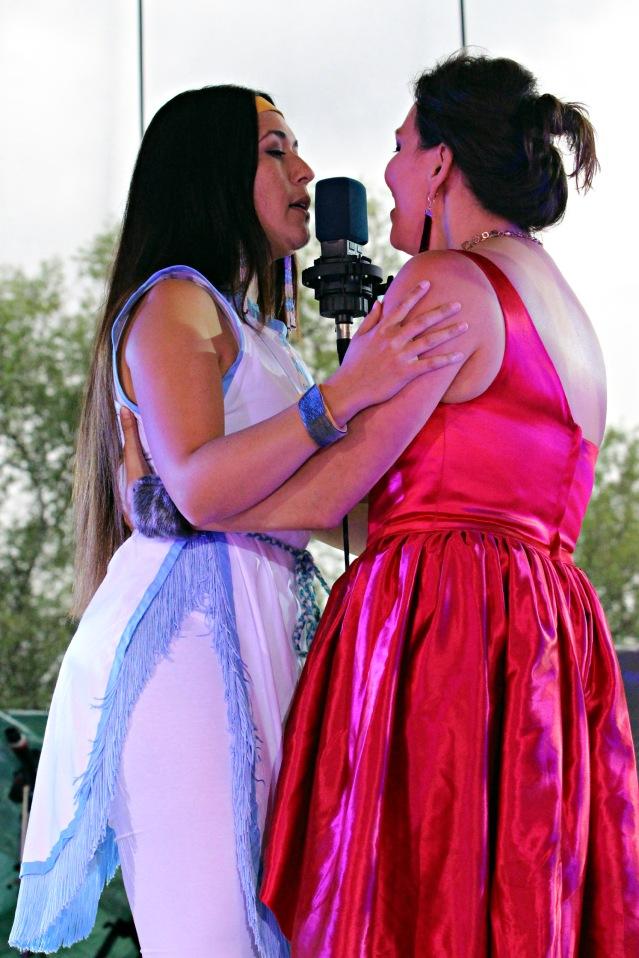 Jenna Broomfield and Tanya Tagaq
